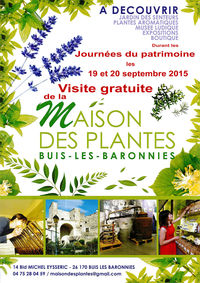 Journ es du patrimoine du 19 09 2015 au 20 09 2015 buis - Office du tourisme buis les baronnies ...