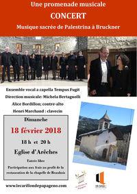 Concert Musique sacrée de Palestrina à Bruckner.