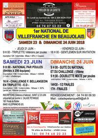 1er national de pétanque de Villefranche en Beaujolais,
