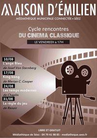 Cycle de rencontres de cinéma à la médiathèque
