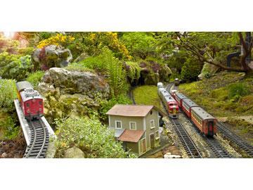 Jardin ferroviaire site touristique et insolite chatte for Jardin ferroviaire