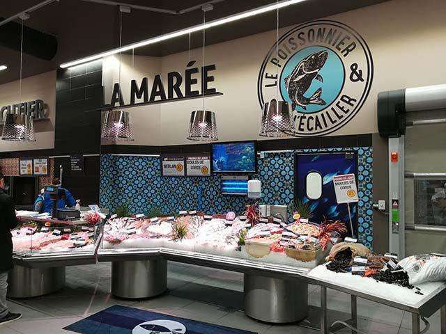 Supermarché Super U : Poissonnerie Voiron