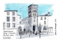"""Expo """"Paysages en Isère - Croquis d'Urban Sketchers"""""""