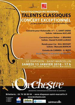 Gala du concours talents classiques 2017 à St-Marcellin
