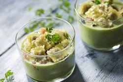 Recette : Gaspacho concombre et ravioles à poêler basilic