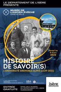 Exposition - Histoire de savoir(s) L'Université Grenoble Alpes (1339-2021)