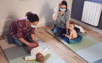 Massage bébé - Atelier Néobulle