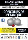 Concours de pétanque de Brégnier-Cordon