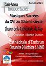 Concert de musiques sacrées