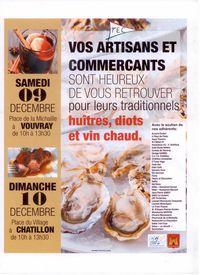 Dégustations de Noël : huître et vin chaud