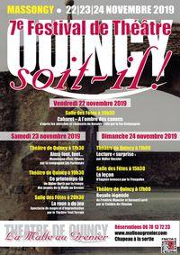 """Festival de théâtre """"Quincy soit-il !"""""""