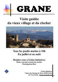 Visite guidée du vieux village et du clocher de Grâne