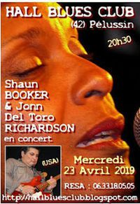 "Concert ""Shaun Booker & Jonn Del Toro Richardson"" - Hall Blues Club"