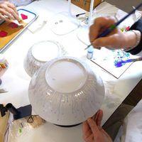 """Ateliers de décor sur porcelaine """" Pause créative """""""