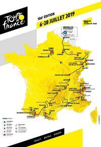 Passage du Tour de France cycliste