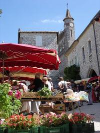 Marché traditionnel de Monflanquin