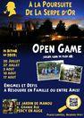 """Open game au jardin de manou """"A la poursuite de la serpe d'or"""""""