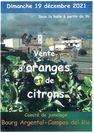 Vente d'oranges et de citrons bio