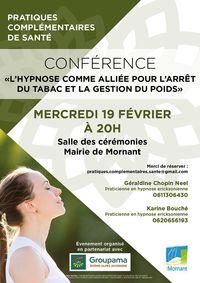 Conférence : l'hypnose comme alliée pour l'arrêt du tabac et la gestion du poids