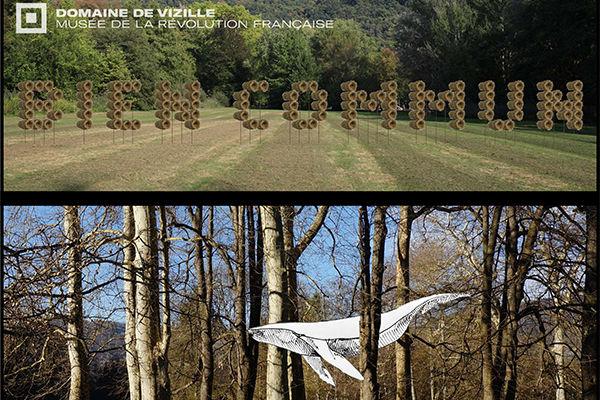 Installations dans le parc Domaine de Vizille