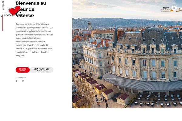 """Lancement du site Web """"Mon c½ur Valence"""""""