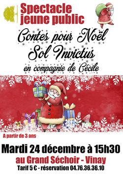 Contes pour Noël : Sol Invictus au Grand Séchoir de Vinay