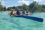 Ramez malin au Lac de Paladru avec Pagaie Patrimoine