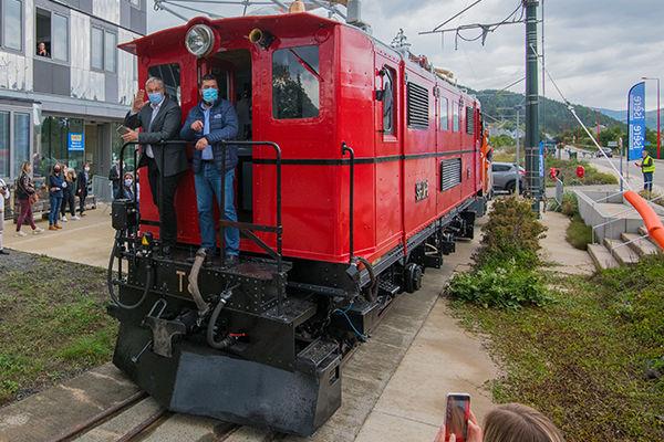 La première locomotive du Petit Train de La Mure sur les rails