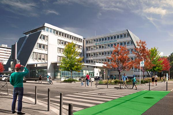 Nouveau Centre Communal dans le quartier Malherbe de Grenoble