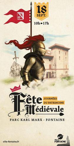 Fête médiévale à Fontaine durant les Journées du Patrimoine