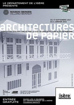 Expo Architectures de Papier à la Maison Bergès de Villard-Bonnot